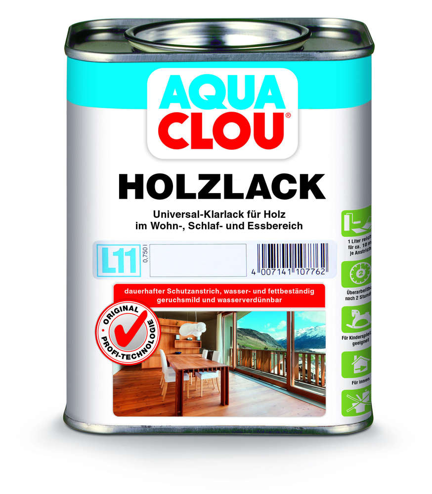 Holzlack Farben.Clou L 11 Aqua Clou Holzlack